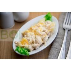 01. Салат Куриный с  ананасами (150г)